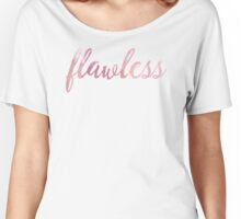 Flawless Pink Watercolor Typography Women's Relaxed Fit T-Shirt