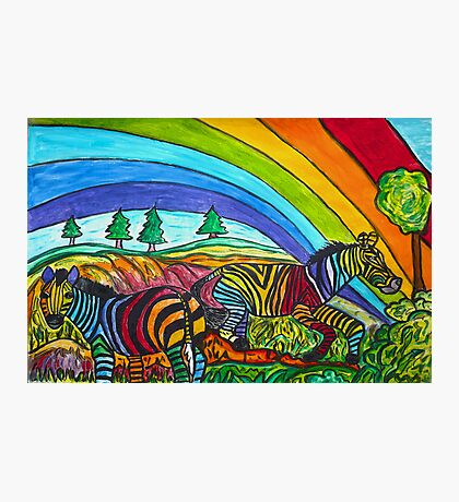 Rainbow Chasers Photographic Print