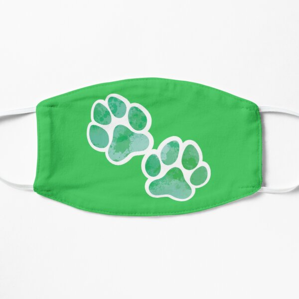 Painted Pawprints (Green Print) Mask