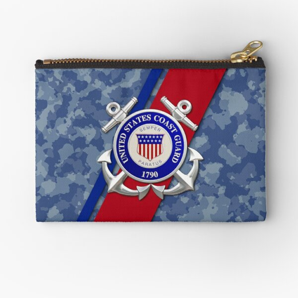 Protect makeup bag pencil pouch Coast Guard Large zipper pouch Liberty United States Coast Guard zipper pouch Honor Service Coastie