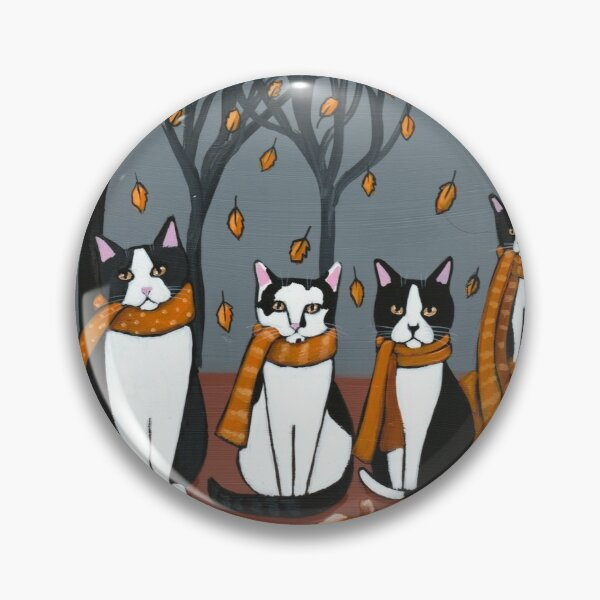 An Autumn Day With Tuxedos Pin