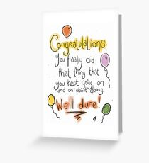 A covering all bases congratuations card.  Greeting Card