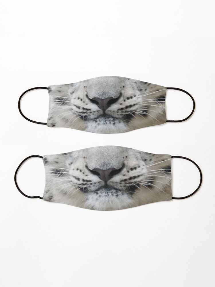 Alternate view of Snow Leopard Face Protective Mask Mask