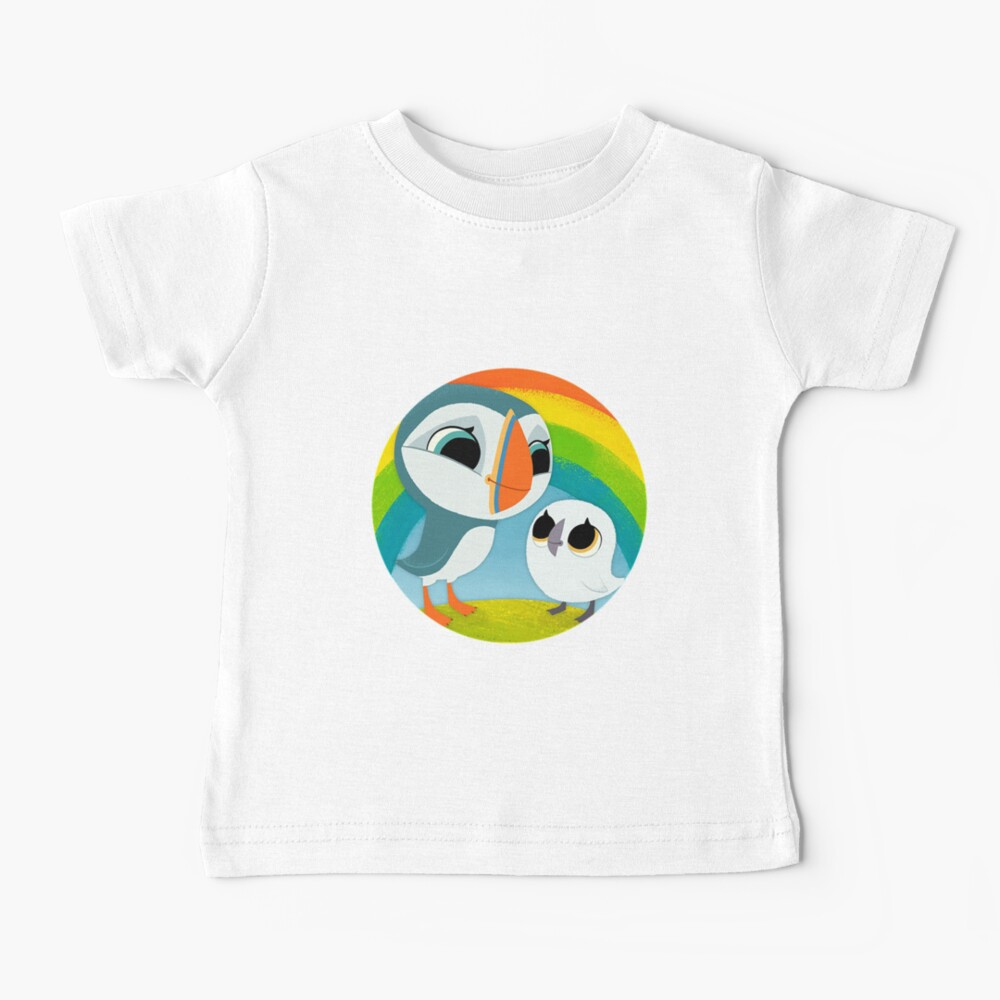 Puffins Preschool Gifts - Rocks - Irish Coast - Ireland - Cute Little Pre School Gifts - T shirts Baby T-Shirt