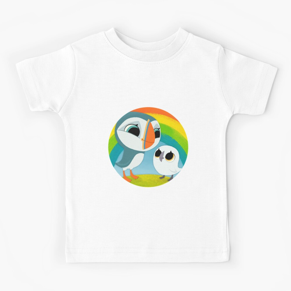 Puffins Preschool Gifts - Rocks - Irish Coast - Ireland - Cute Little Pre School Gifts - T shirts Kids T-Shirt