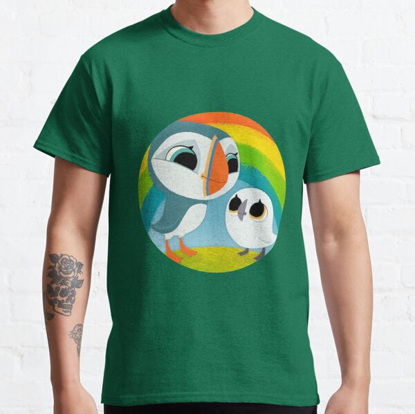 Puffins Preschool Gifts - Rocks - Irish Coast - Ireland - Cute Little Pre School Gifts - T shirts Classic T-Shirt