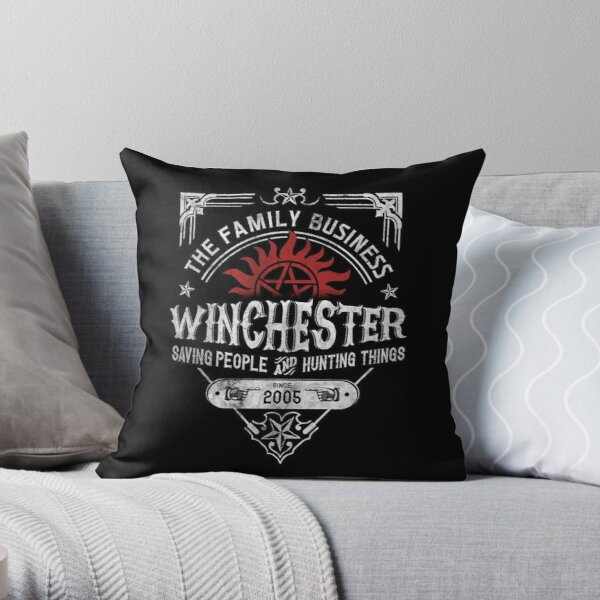 The Family Business Winchester Saving People and Hunting Things | Supernatural™ Throw Pillow
