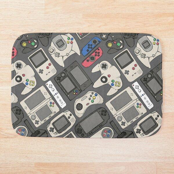 Video Game Controllers in True Colors Bath Mat