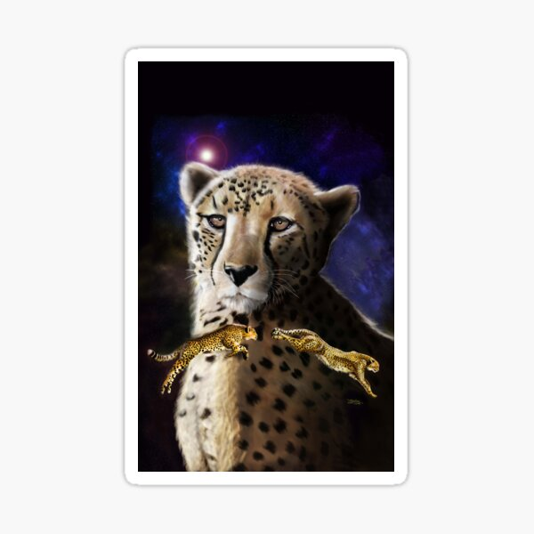 #1 of 5 Big Cat Series - The Exotic Cheetah  Sticker