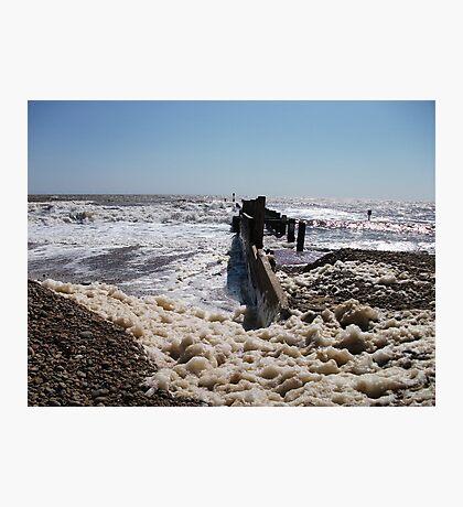 Seaform On Lowestoft Beach Photographic Print