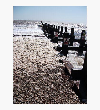 Seaform On Lowestoft Beach 2 Photographic Print
