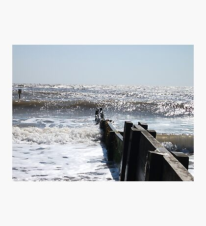Waves By The Groyne Photographic Print