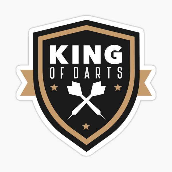 Darts Player Gift I Darts Team Darts King T-Shirt Sticker Sticker