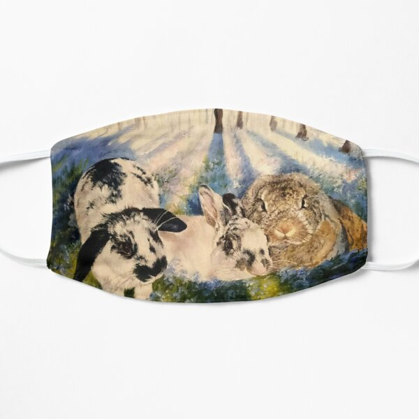 Magestic bunnies in bluebell woods Mask