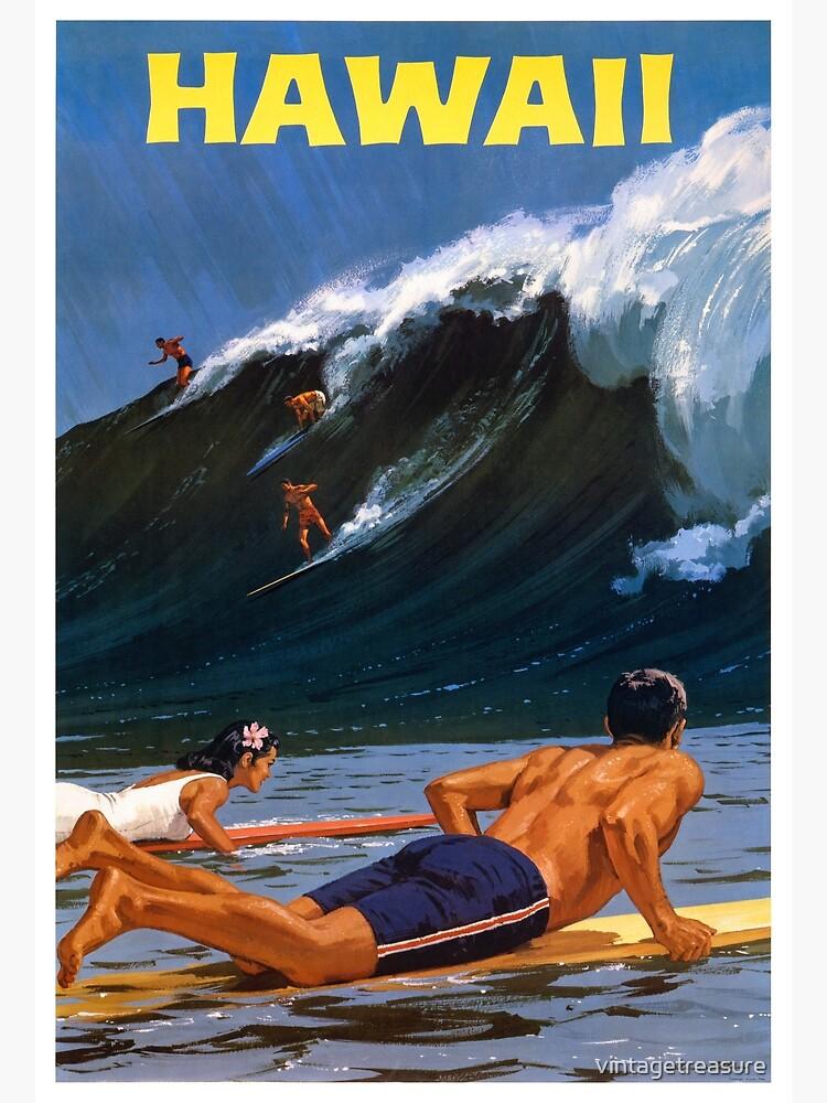 Hawaii Vintage Travel Poster Restored by vintagetreasure
