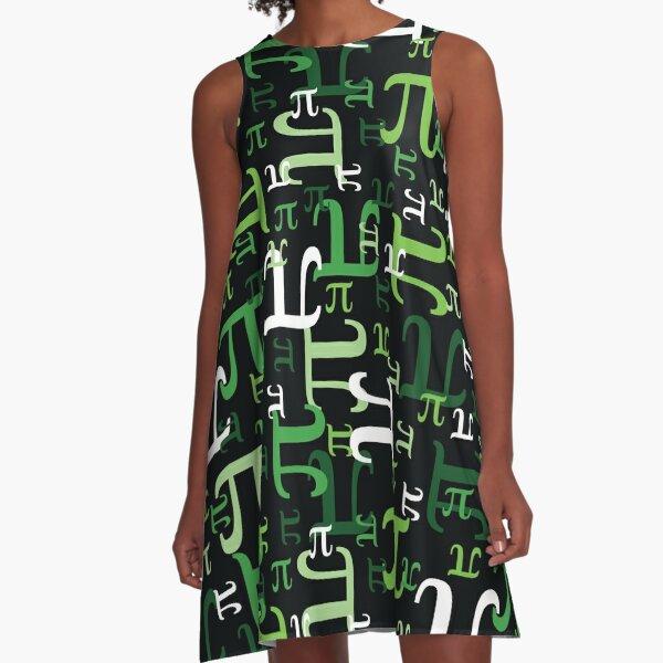 Stücke von Pi (Grün) A-Linien Kleid