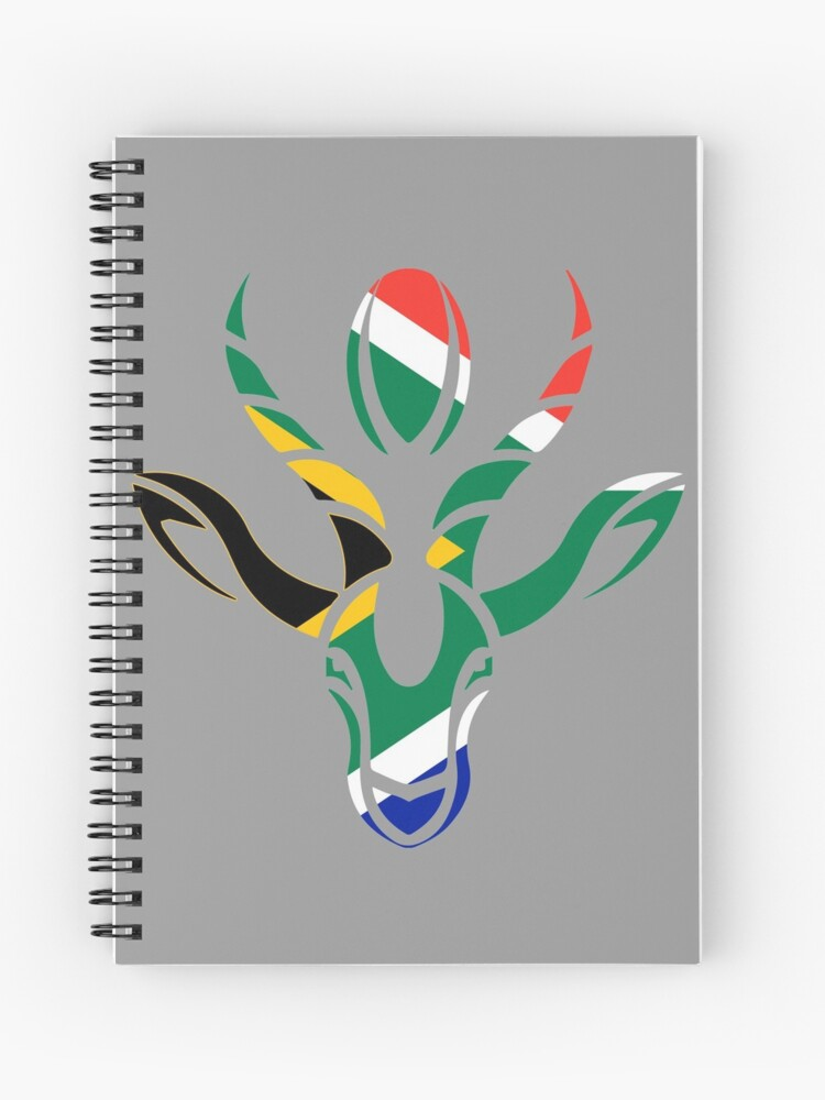 South Africa Rugby World Champion Springboks Gift Spiral Notebook By Numacreations Redbubble