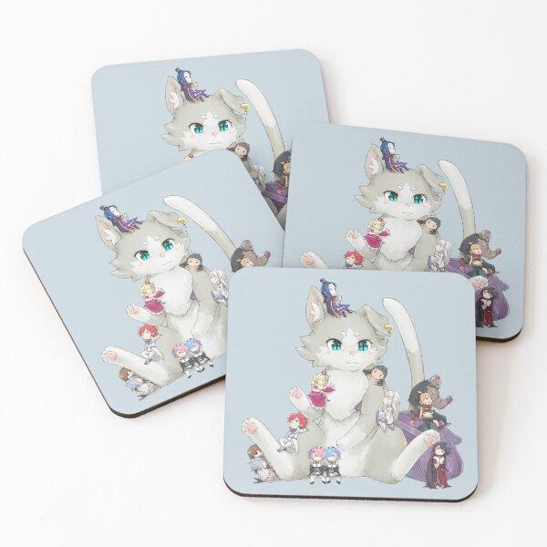 Re: Zero kara Hajimeru Isekai Seikatsu Coasters (Set of 4)