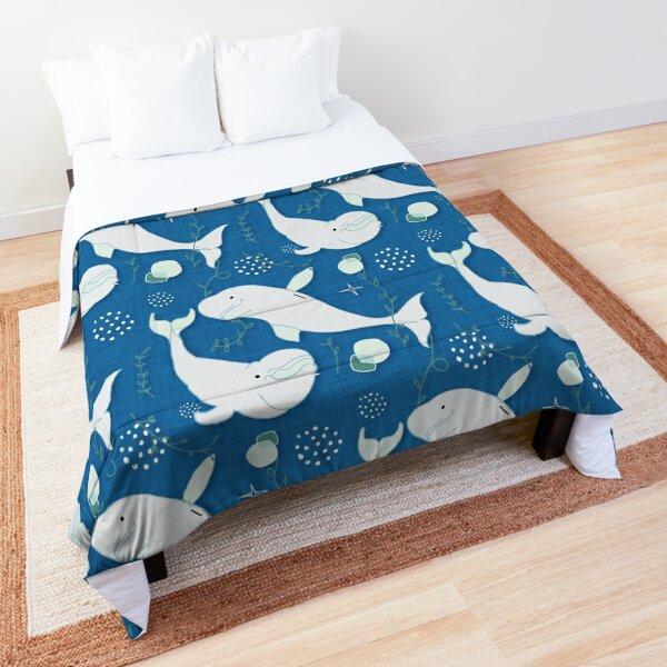 Beluga Whale Blue #homedecor Comforter