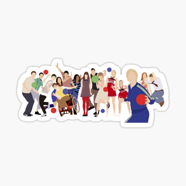 Glee Characters Sticker