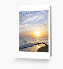 South Sound Sunset Study Greeting Card