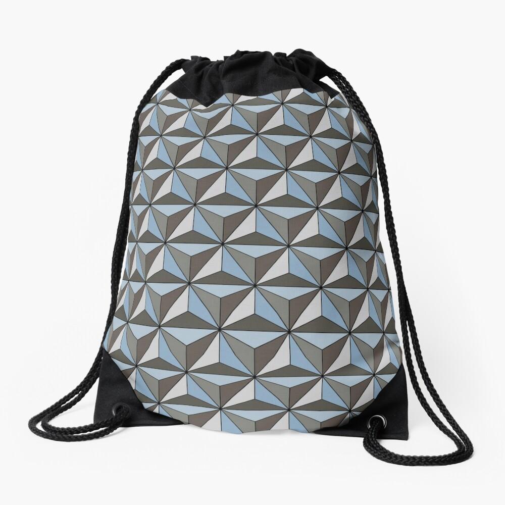 Spaceship Earth Drawstring Bag