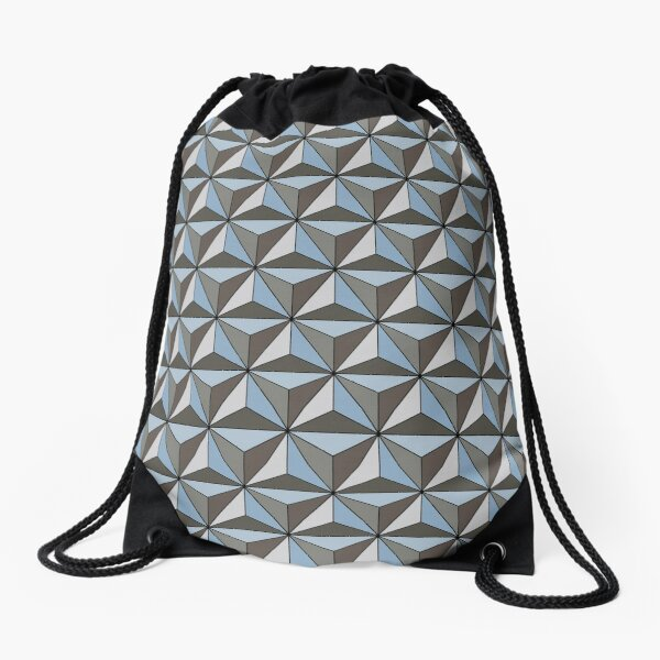 Spaceship Earth Drawstring Bag