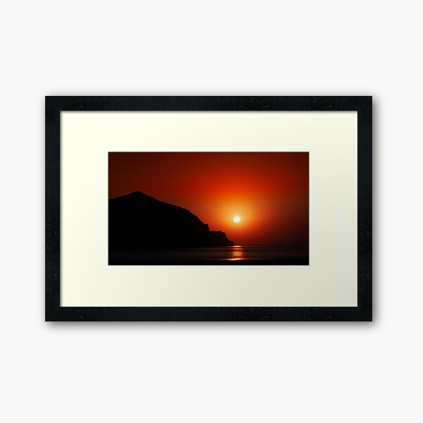Sunset at the sea Framed Art Print