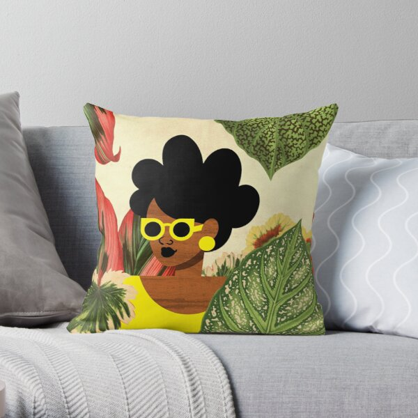 Bayou Girl II Throw Pillow