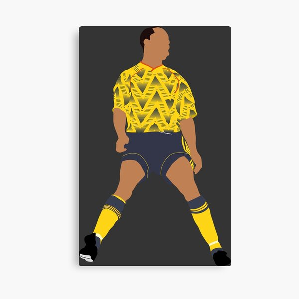 Ian Wright. Arsenal, Football. Canvas Print