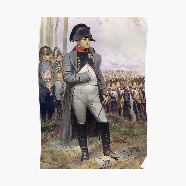Napoleon. Represented in his Colonel uniform of the Chasseur à Cheval of the Imperial Guard. Poster