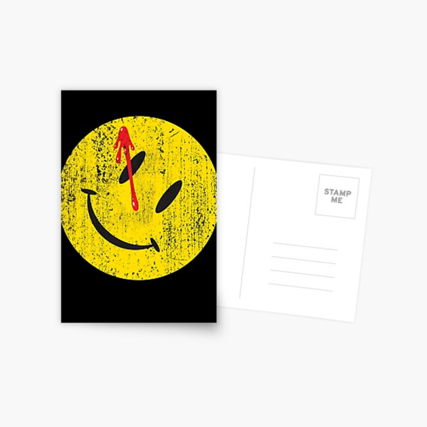 Watchmen Smiley Carte postale
