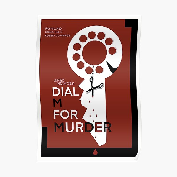 Officially Licensed Hitchcock's Dial M For Murder Poster