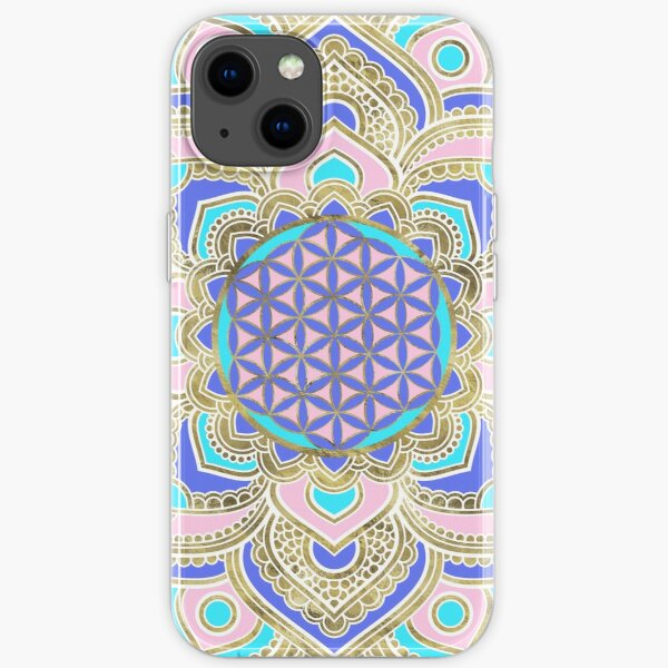 Flower of Life in Lotus Pastels and Gold iPhone Soft Case