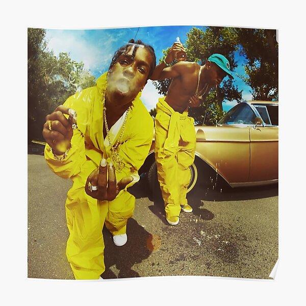 A $ ap und tyler gelb Poster