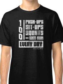 One Punch Man Regimen Classic T-Shirt