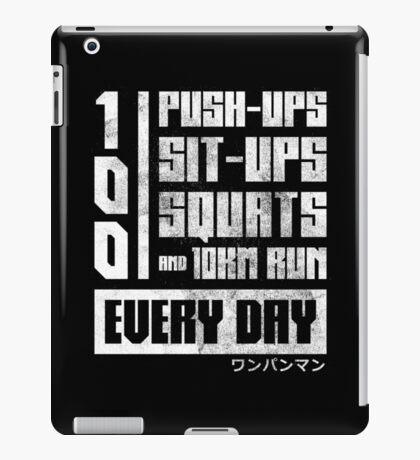 One Punch Man Regimen iPad Case/Skin