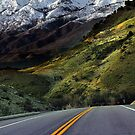 Highway Snow-Capped Mountain by Ryan Houston
