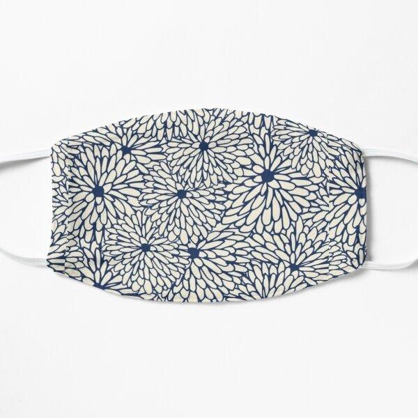 Blue flowers Flat Mask