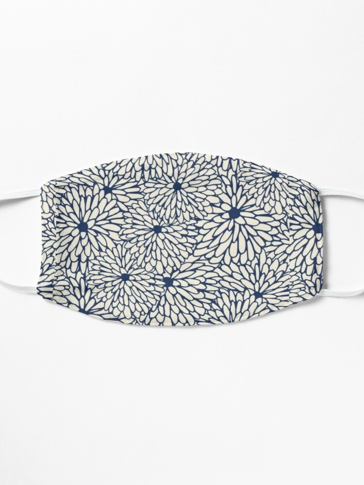 Alternate view of Blue flowers Mask