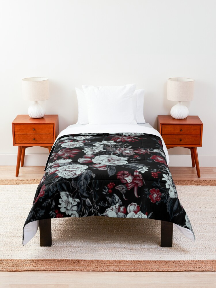 Alternate view of Night Garden Blooms Comforter