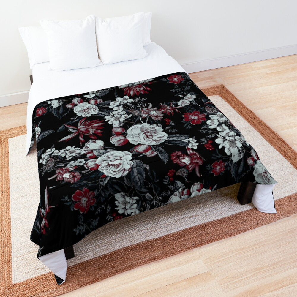 Night Garden Blooms Comforter