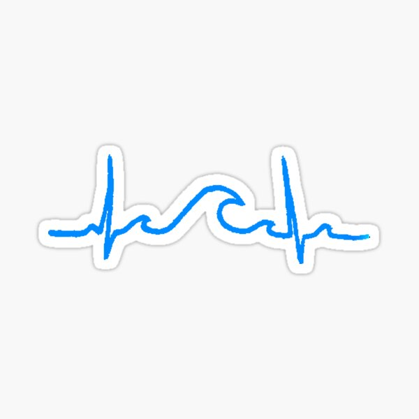 My Heart Belongs to the Waves Sticker