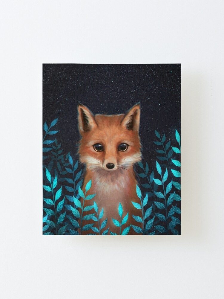 Alternate view of Fox Mounted Print