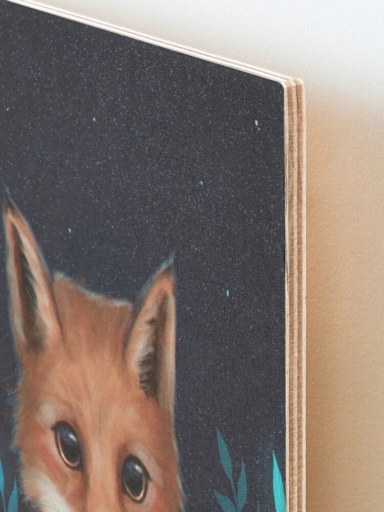 Alternate view of Fox Mounted Print