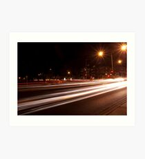 Night-time streetscape Art Print