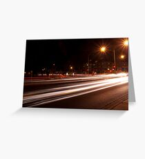 Night-time streetscape Greeting Card