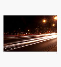 Night-time streetscape Photographic Print