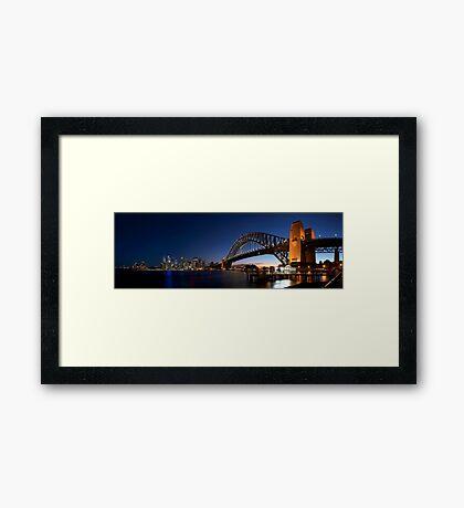 Sydney Harbour Bridge Panorama Framed Print