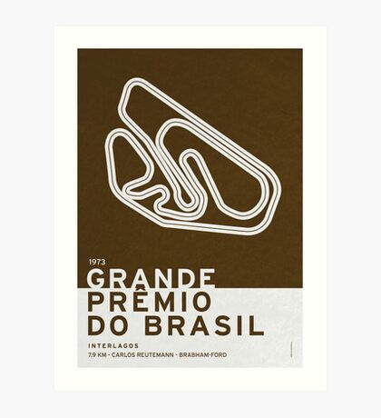 Legendary Races - 1973 Grande Premio do Brasil Art Print